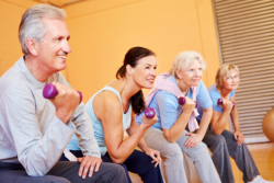 group of people having exercise